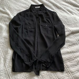 GARAGE black chiffon shirt